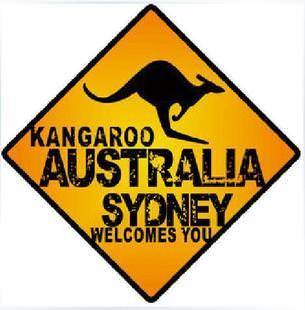 Kangaroo Australia Sydney Logo Sticker D341 Modsticker Com