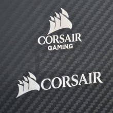 New Corsair Gaming Metal Logo Sticker (2 Styles)