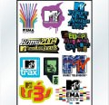 MTV & Music Logo Stickers Set (Z44)