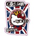Hello Kitty Gold Save Logo Sticker (D290)