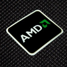 AMD Black Logo Sticker