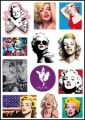 Marilyn Monroe Logo Stickers Set (Z17)