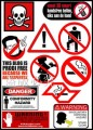 Warning Signs Logo Stickers Set (Z3)