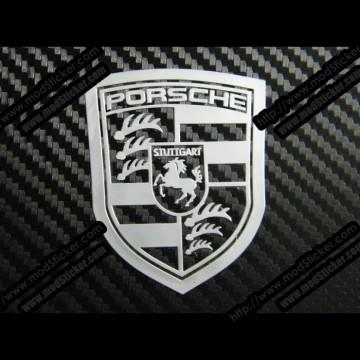 Porsche Metal Logo Sticker