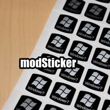 Windows 7 Logo Sticker (Black)
