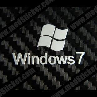 Windows 7 Metal Logo Sticker