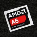 (New) AMD A6 Elite Mobility Logo Sticker